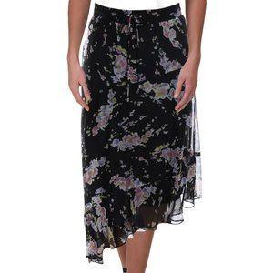 Ralph Lauren Tierney Asymmetrical Floral Skirt New